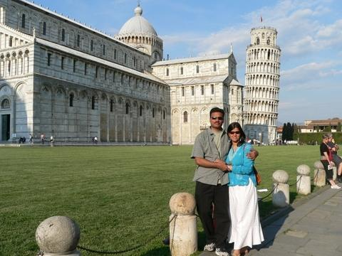 that's Sudha & me at Pisa, Italy!