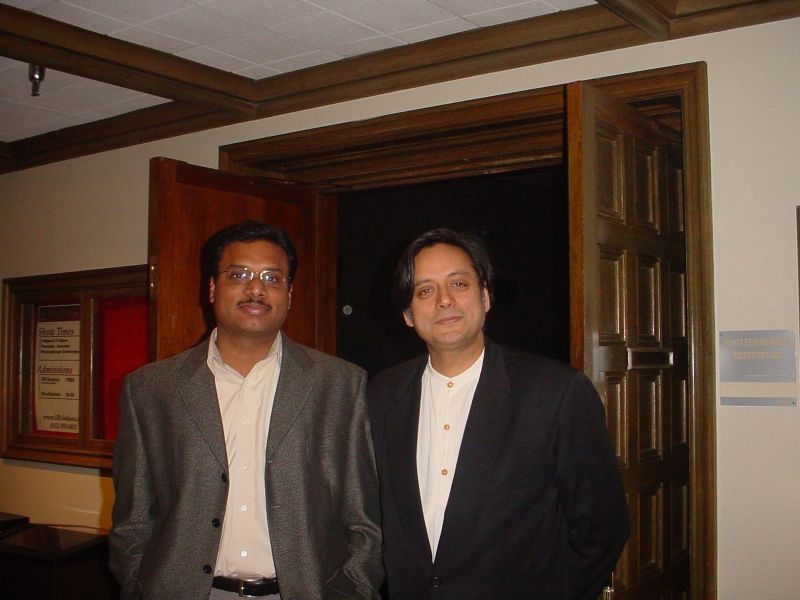 that's me with Dr.Shashi Tharoor, UN Undersecretary General & awards winning writer
